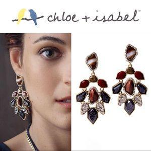🆕 Rebel Red Tiger Eye Statement Earrings c+i E367